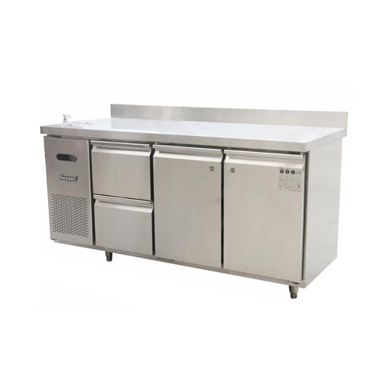 两门两抽冷藏操作台 商用工作台冰箱设备