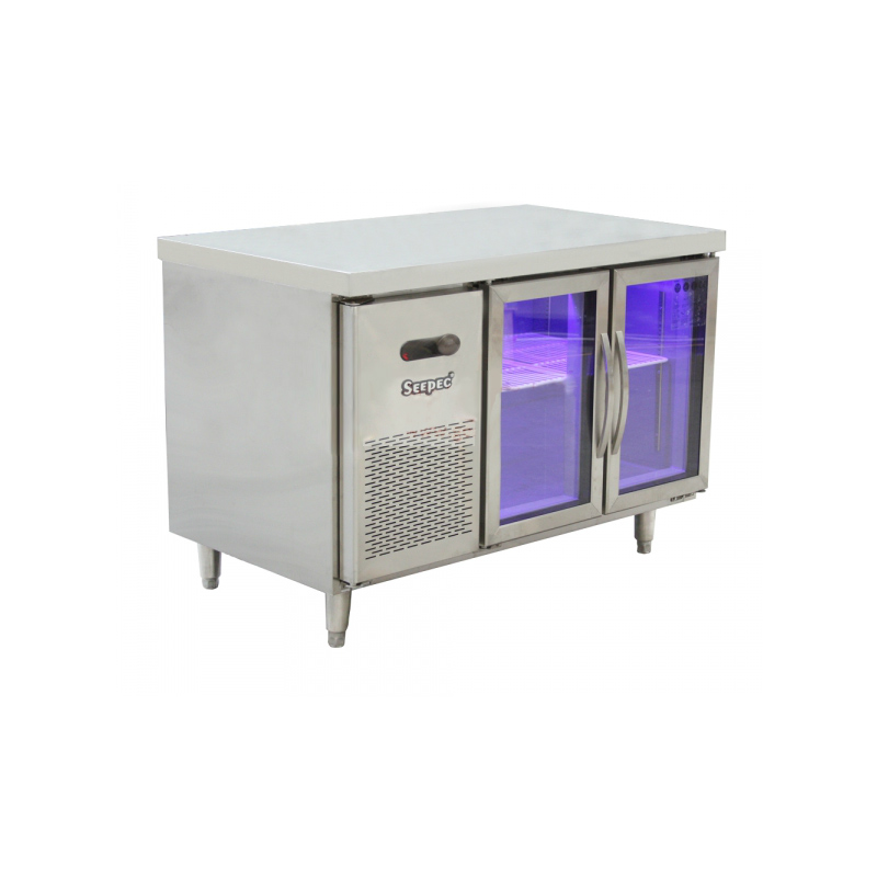 1.5m两门玻璃蓝光风冷冷藏展示柜SE-R1570-2G