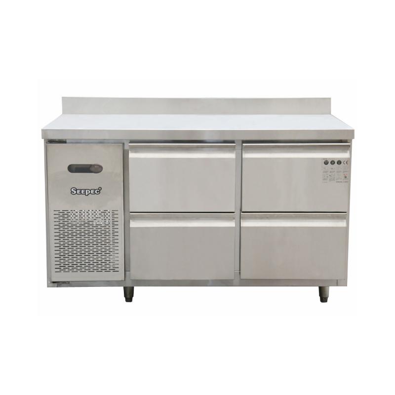 四抽冷藏操作台 不锈钢水吧台冰箱